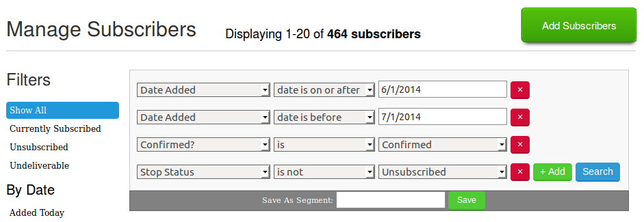 Baeldung - New Email subscribers - June 2014