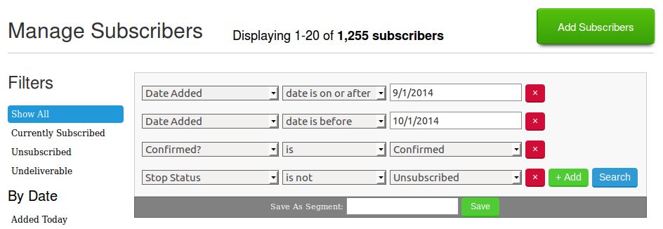 Baeldung - New Email subscribers - September 2014