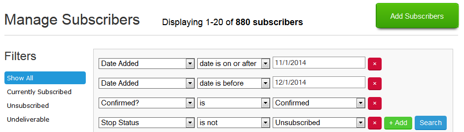 Baeldung - New Email subscribers - November 2014