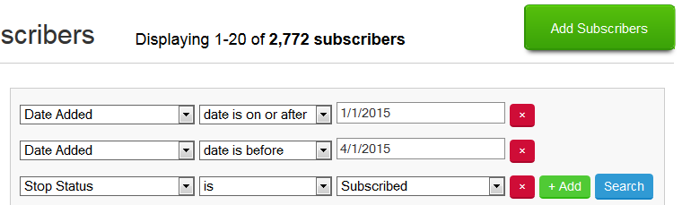 Baeldung - New Email subscribers - Q1 2015